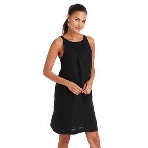 VINEYARD VINES New Linen Pintuck Cisco Swing Dress